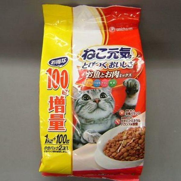 ねこ元気 1.0kg+100g  350円