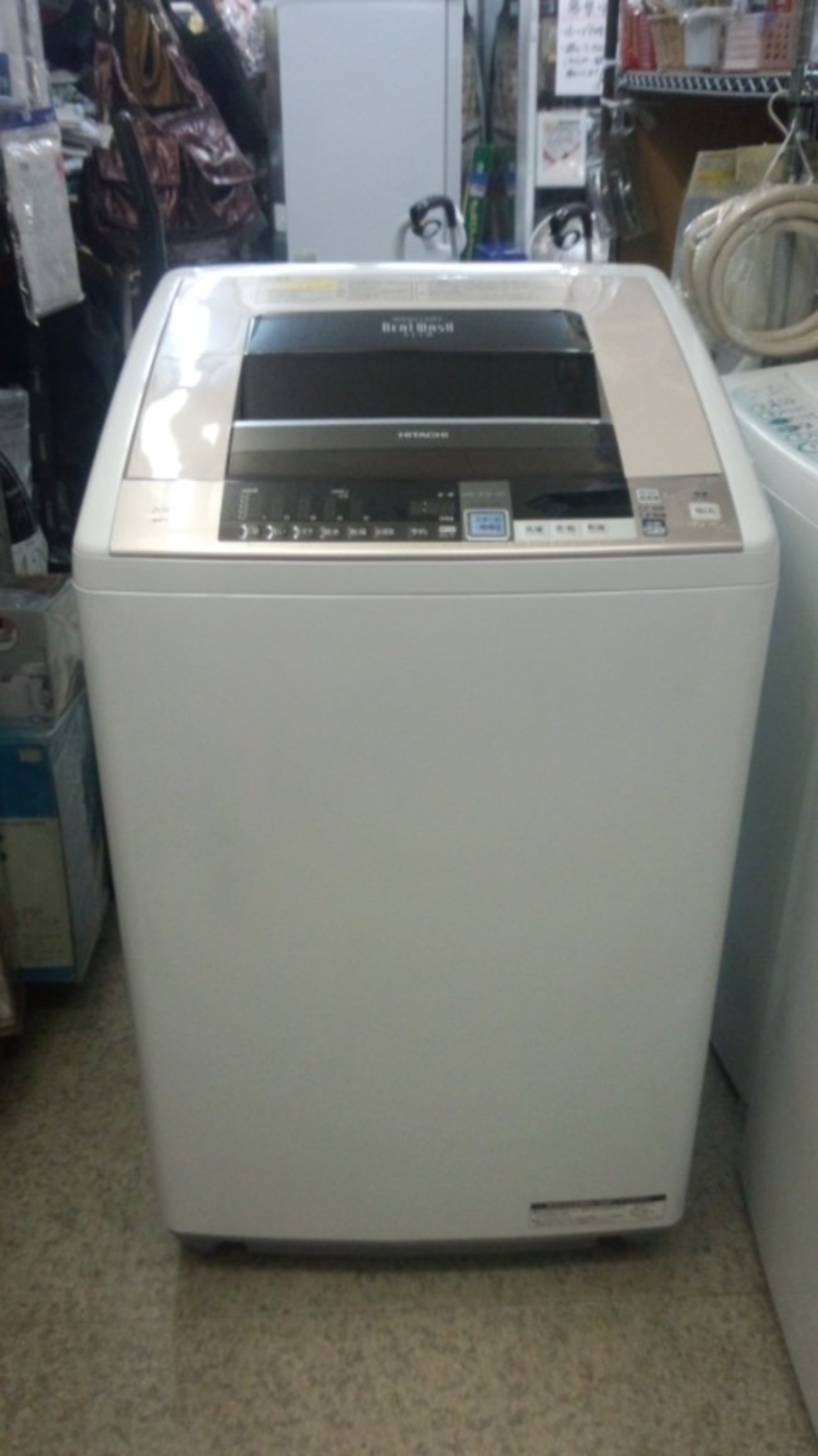 日立 ビートウォッシュ BW-D8TV 全自動洗濯機 2015年製のサムネイル